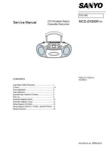 Sanyo Service Manual For MCD-ZX500F Manual by download #175945