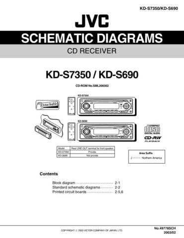 JVC KD-S7350 KD-S690 schem Service Schematics by download #156171