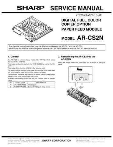 Sharp ARFN2 3 Service Manual by download #138819