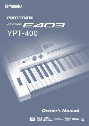 Yamaha PSRE403_EN_OM Operating Guide by download Mauritron #204218