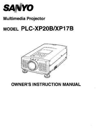 Sanyo PLC-XF12N(OM5110241-00 15) Manual by download #174865