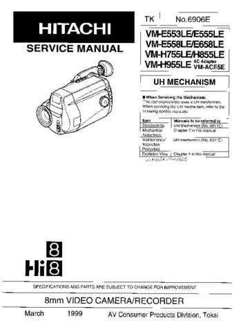 Hitachi VM-865LE Manual by download Mauritron #184648