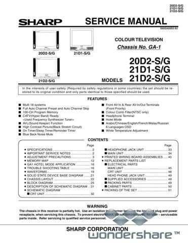 Sharp 20-21A1-A2RU SM GB Manual.pdf_page_1 by download #177832
