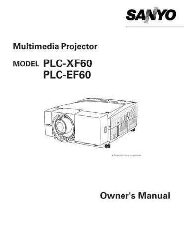 Sanyo PLC-XU37-01 Manual by download #175015