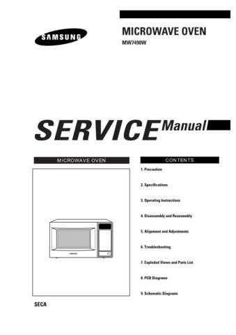 Samsung MW7490W XAC51614101 Manual by download #164812