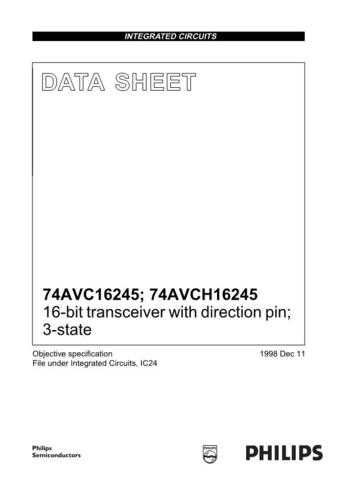 SEMICONDUCTOR DATA 74AVC AVCH16245 N 1J Manual by download Mauritron #186924