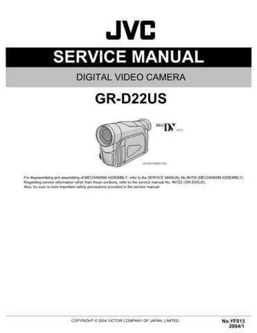 JVC GR-D22US Service Schematics by download #155571