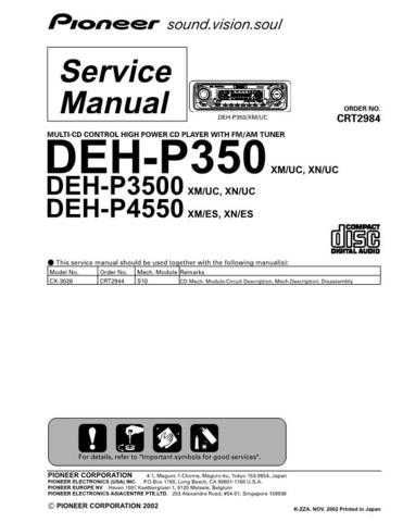 PIONEER C2984 Service Data by download #149131