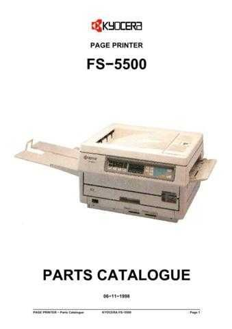 KYOCERA FS-5500 PARTS MANUAL by download #148434