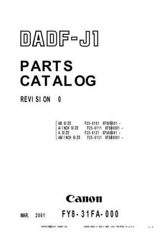 Canon DADF-J1PC Service Schematics by download #135183
