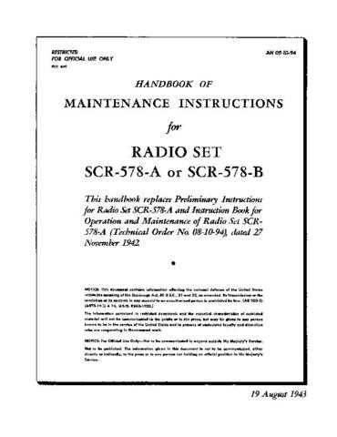 Military AN 08-10-94 Service Schematics by download #156769