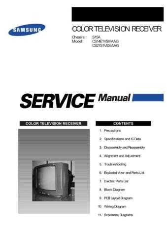 Samsung CS21S1V5X AAGUS320101 Manual by download #164121