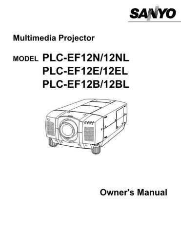 Sanyo PLC-EF10B Manual by download #174729