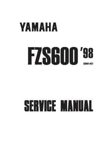 Yamaha Fazer FZS600 '98 Service Manual by download Mauritron