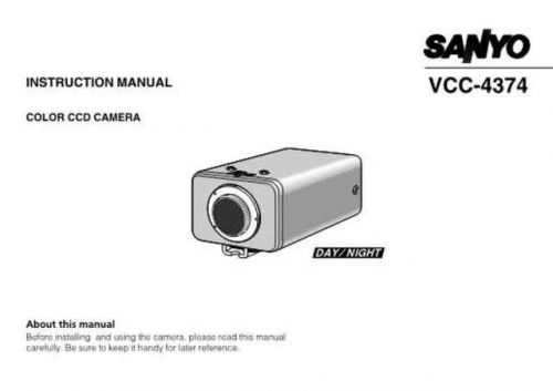 Sanyo VCC-3972P Operating Guide by download #169593