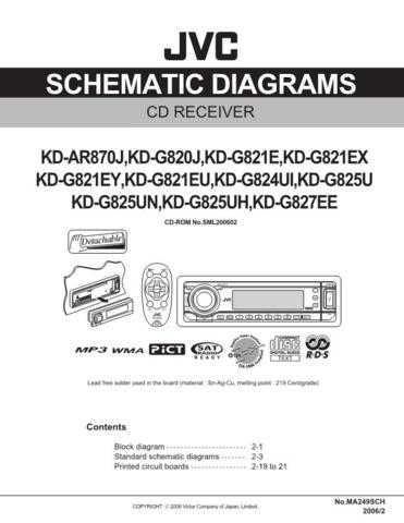 JVC KD-AR870 sch Service Schematics by download #156035