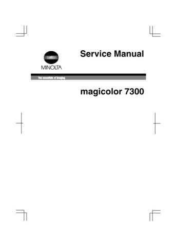 KONICA MINOLTA QMS MAGICOLOR 7300 SERVICE MANUAL by download #148383