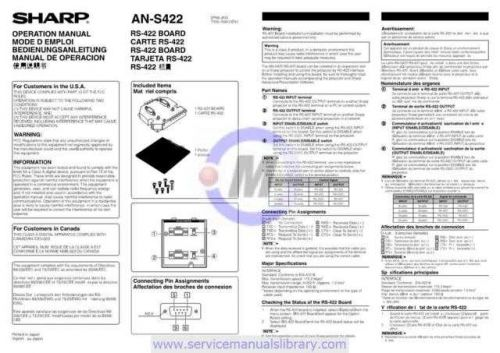 Sharp ANS422948 Manual by download #179314