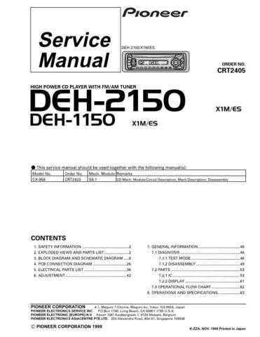 PIONEER C2405 Service Data by download #148893