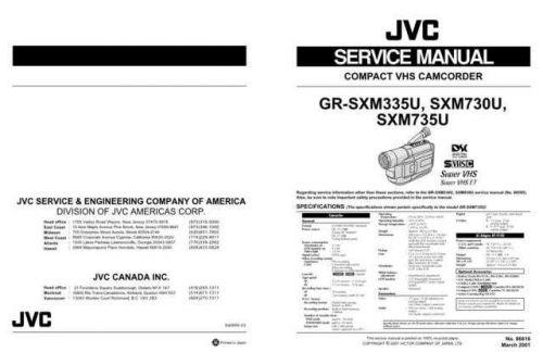 JVC GR-SXM730 Service Schematics by download #155848