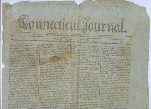 CT New Haven Newspaper Title: Connecticut Journal Date: Jun-8-1796~18