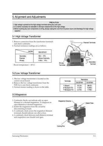 Samsung MW5480W XAA10029107 Manual by download #164727