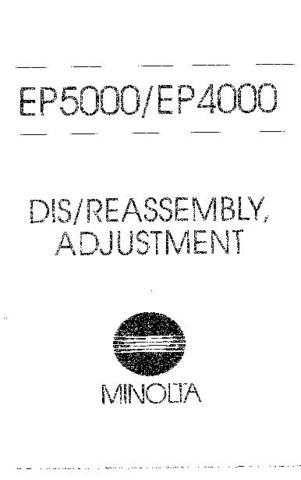 Minolta DISREASSEMBLYADJ Service Schematics by download #137485