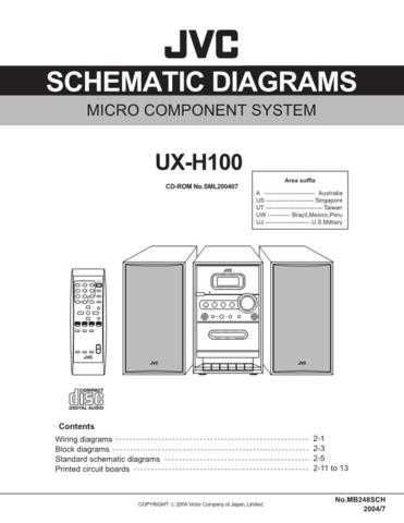 JVC UX-H100 3 Service Manual by download #156617