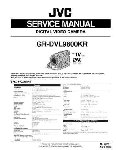 JVC GR-DVL9800KR by download #130860