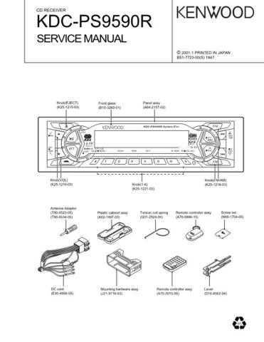 KENWOOD KDC-MP6090R MP7018 MP8017 Service Manual by download #148179