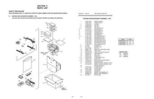 JVC GR-DVL725U-DVL820U-DVL920U part CDC-1441 by download #155696