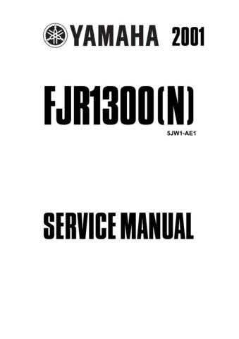 Yamaha FJR1300 SERVICE MANUAL by download Mauritron