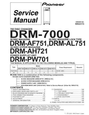 PIONEER R2173 Service Data by download #153192
