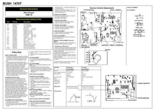 Bush 1470T Schematics plus by download #146359