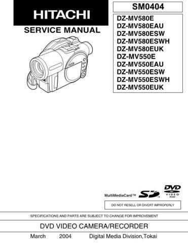 HITACHI SM 0404E Service Data by download #147484