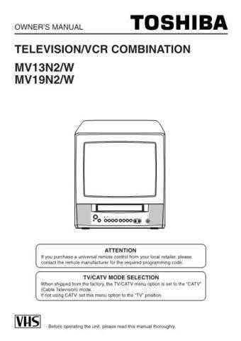 Toshiba MV13P3 Manual by download #172234