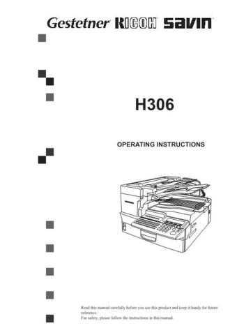 Lanier H306 Operating Guide by download #156753