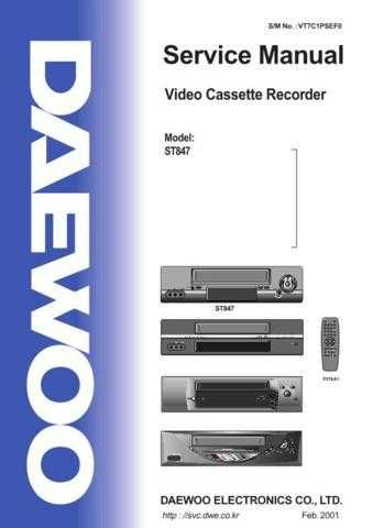 Daewoo ST847 e (E) Service Manual by download #155119