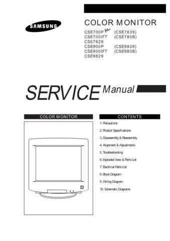 Samsung CSE780BT XAA10029101 Manual by download #164169