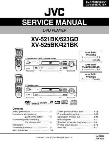 JVC XV-523 Service Manual by download #156692