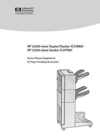 Hewlett Packard 3000 20Sheet 20Stacker 20 Service Manual by download #155216
