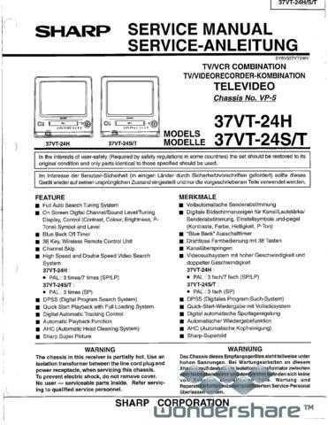 Sharp 37VT24-SERIAL SM GB-DE Manual.pdf_page_1 by download #178423