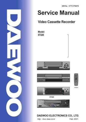Daewoo ST220 e (E) Service Manual by download #155112