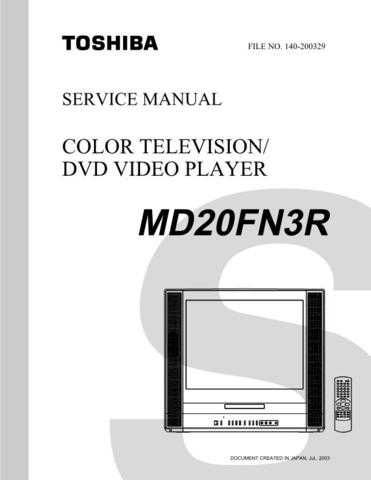 TOSHIBA MD20FN3R SVCMAN ON by download #129501