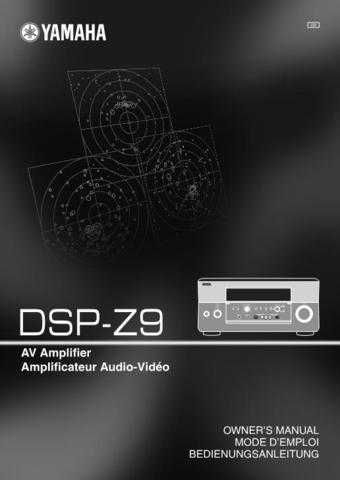 Yamaha DSP-E580 Owners Manual User Guide Operating Instructions by download Mau