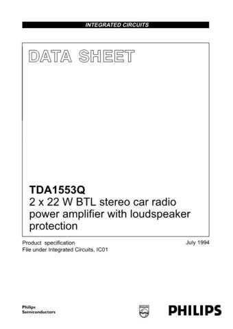 MODEL TDA1553 Service Information by download #124673