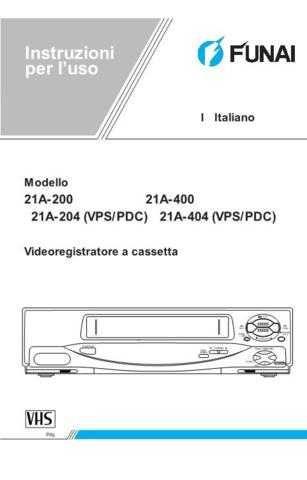 Funai 21A-200(IT) Manual by download #160856