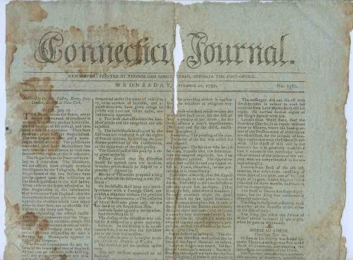 CT New Haven Newspaper Title: Connecticut Journal Date: Sep-20-1797~11