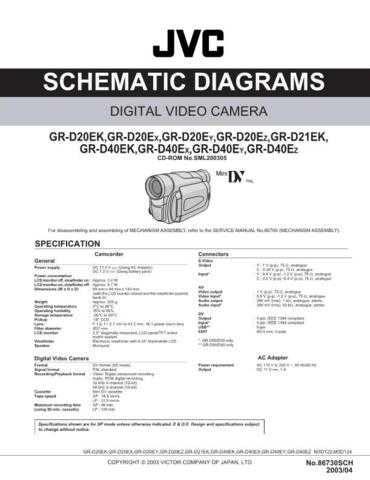 JVC GR-D20EY sch Service Schematics by download #155564