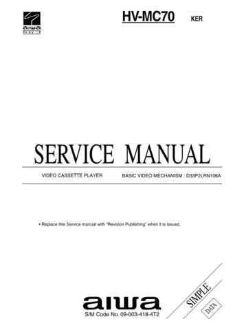 MODEL HVMC70 Service Information by download #124213